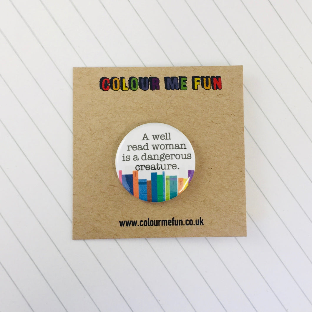 Book Lovers Librarian Button Badge
