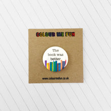 Bookish Book Button Badges