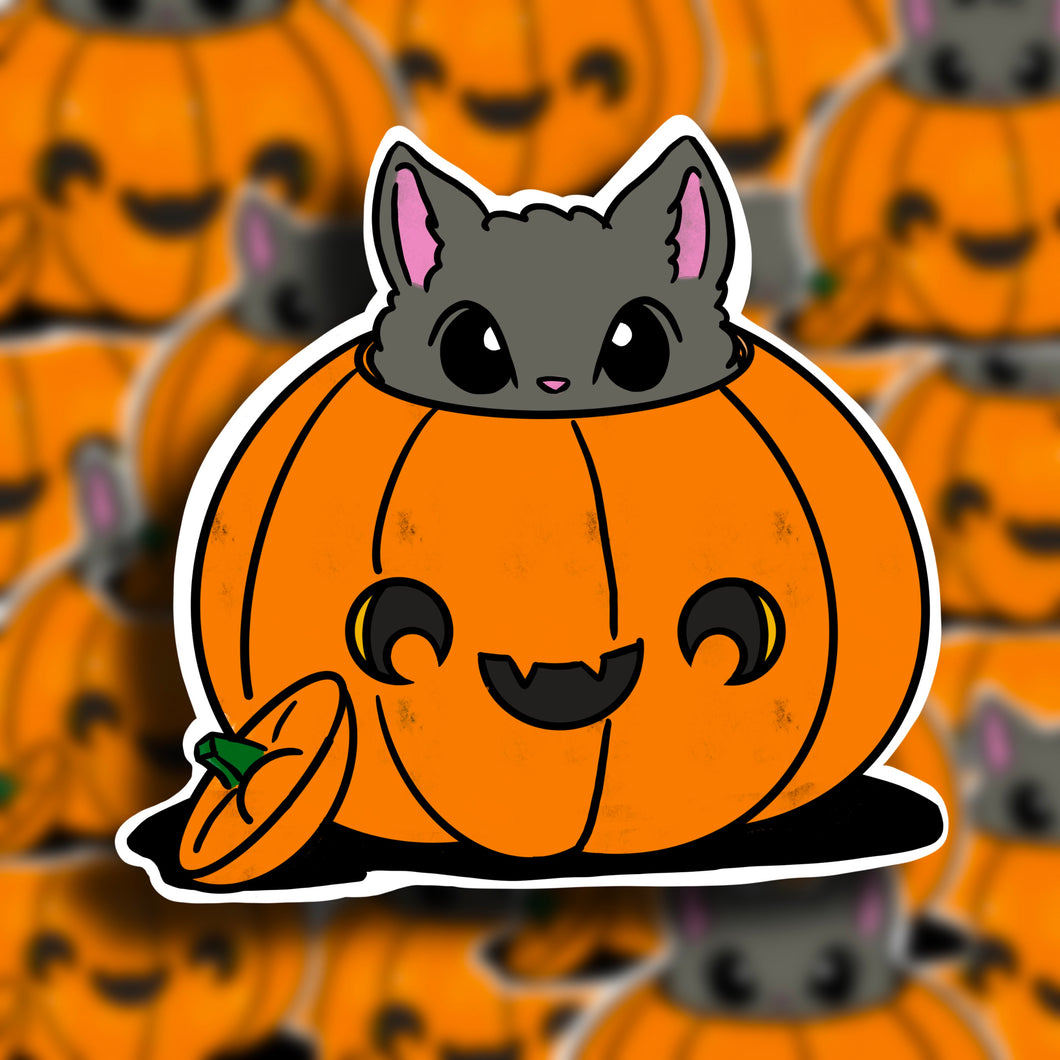 Halloween Cat (1) Vinyl Sticker