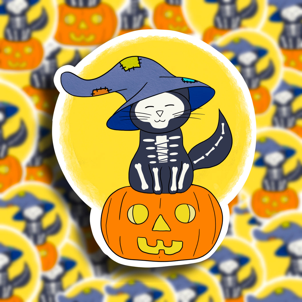 Halloween Cat (2) Vinyl Sticker