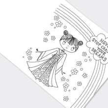 Cherry Blossom Princess Colouring Book