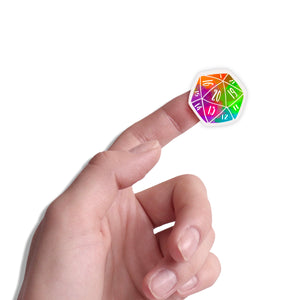 20 Sided Dice Sticker Set