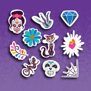 Day of the Dead Sticker Set