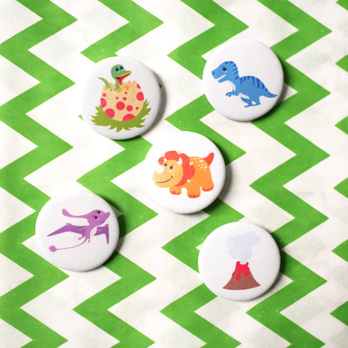 Dinosaur Badge Set
