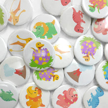 Dinosaur Button Badge Set