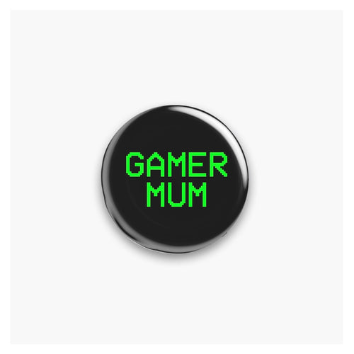 Gamer Mum/Mom Pin Badge