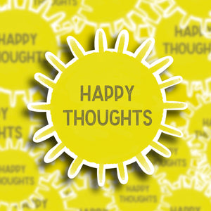 'Happy Thoughts' Sticker - Single Vinyl Sticker