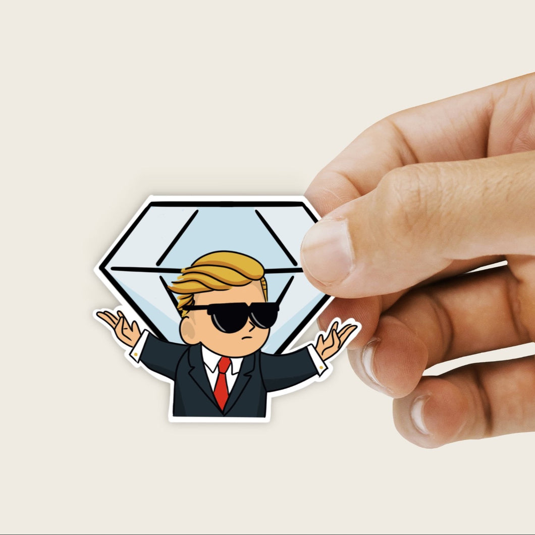 WSB Diamond Hands Stock Market Sticker - Single Vinyl Sticker
