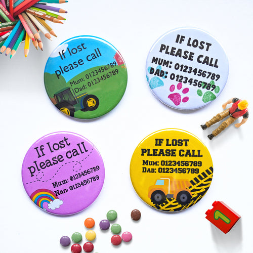 Lost Child Badge - Missing Child ID Button Badge