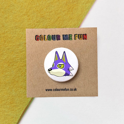 Animal Crossing - Lobo - Button Badge