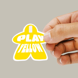 Meeple 'I Play'- Single Vinyl Sticker