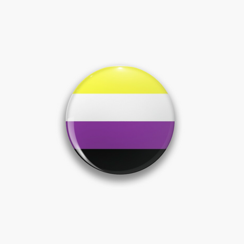 Pride Flag Nonbinary Pin Badge