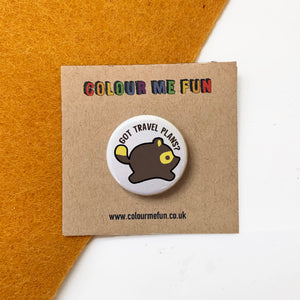 Animal Crossing - Got Travel Plans - Button Badge