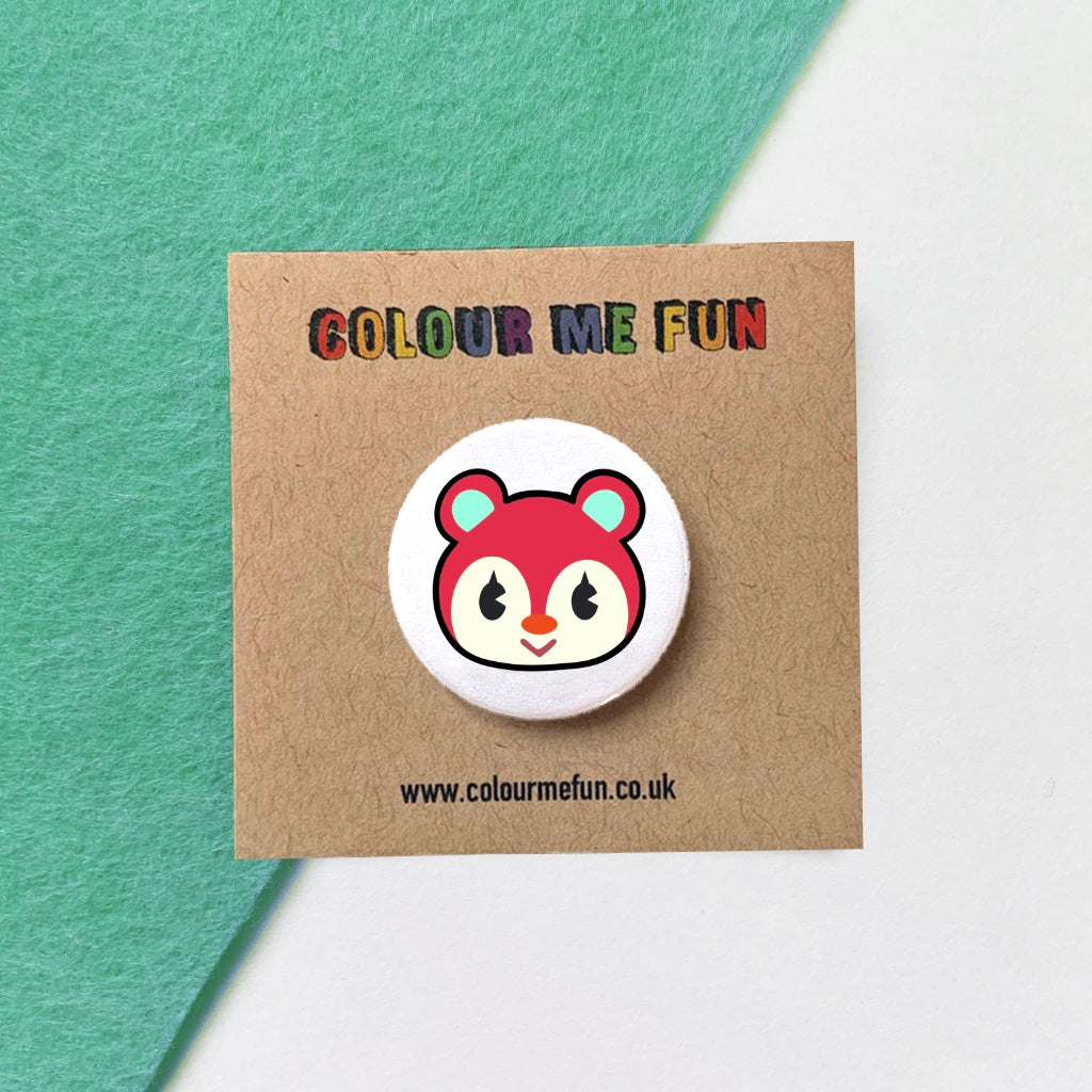 Animal Crossing - Poppy - Button Badge