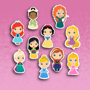 Kawaii Princess Sticker Set (Set 1)