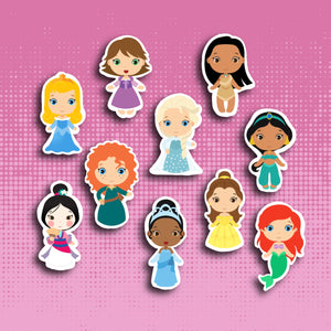 Kawaii Princess Sticker Set (Set 2)