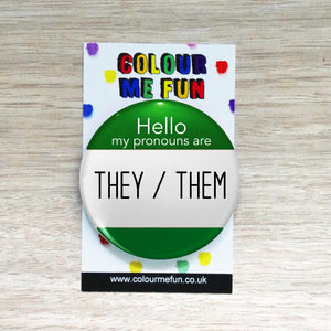They/Them Personal Pronoun Pin Badge
