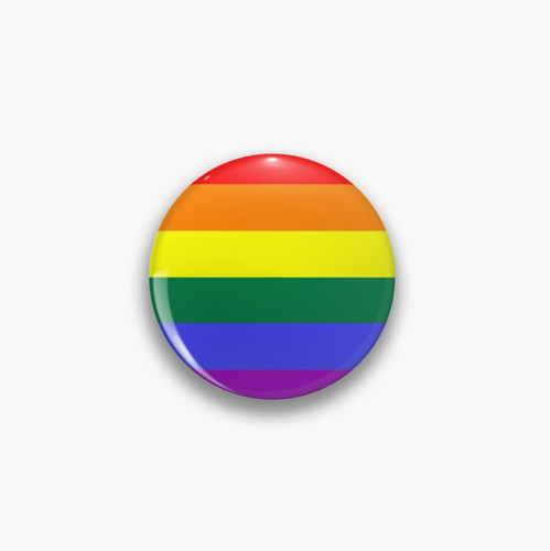 Pride Flag Rainbow Pin Badge