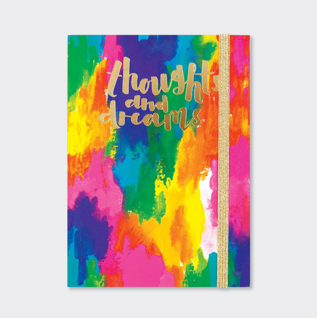 A6 Notebook - Thoughts & Dreams Abstract Colours