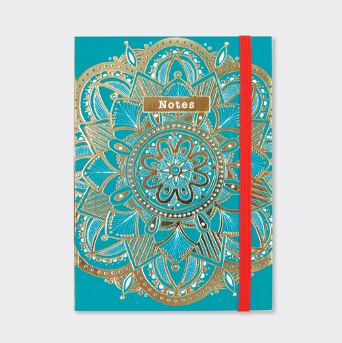 A6 Notebook - Teal Mandala Notes