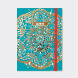 Teal Mandala A6 Notebook