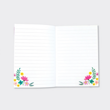 Navy Floral A6 Notebook