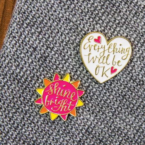 Set of Enamel Pins - Shine Bright & Everything Will Be Ok