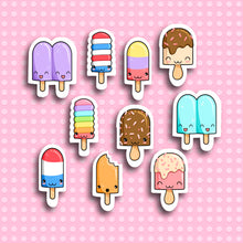 Ice Lolly / Popsicle Sticker Set