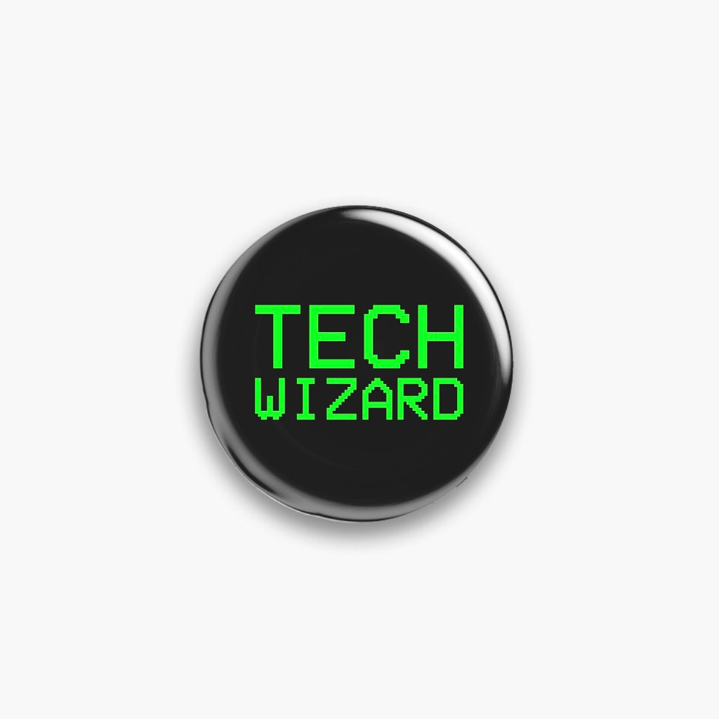 Tech Wizard Pin Badge