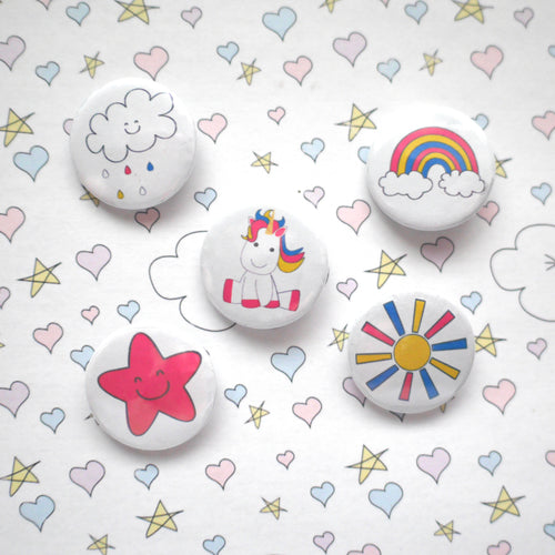 Unicorns Badge Set