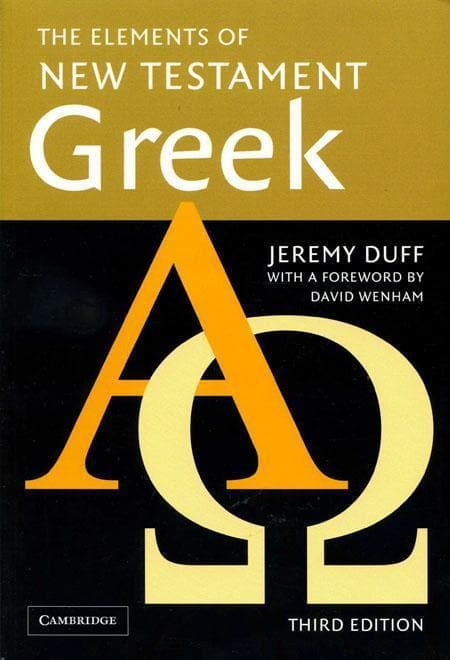 9780521755511-Elements of New Testament Greek, The (Third Edition)-Duff, Jeremy
