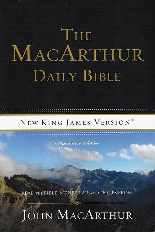9780718003579-NJKV MacArthur Daily Bible, The: Read Through The Bible In One Year, With Notes From John MacArthur-MacArthur, John