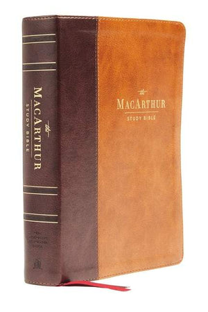 NASB Macarthur Study Bible 2nd Edition Brown Indexed by Bible (9780785230328) Reformers Bookshop