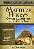 9780785250470-Matthew Henry's Concise Commentary On The Whole Bible-Henry, Matthew