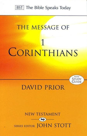9780851109930-BST Message of 1 Corinthians-Prior, David