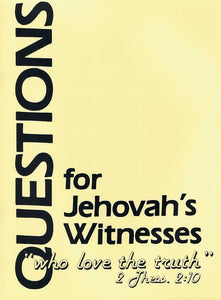9780875521626-Questions for Jehovah's Witnesses-Cetnar, William; Cetnar, Joan