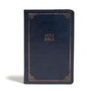 CSB Large Print Personal Size Reference Bible, Navy LeatherTouch