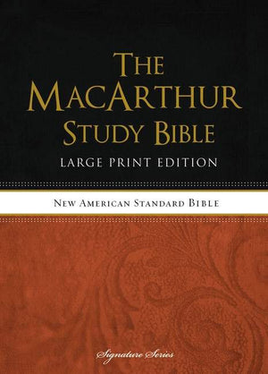 NASB Macarthur Study Bible Large Print by Bible (9781418542269) Reformers Bookshop