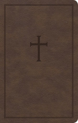 CSB Personal Size Bible, Brown LeatherTouch by Bible (9781430070498) Reformers Bookshop