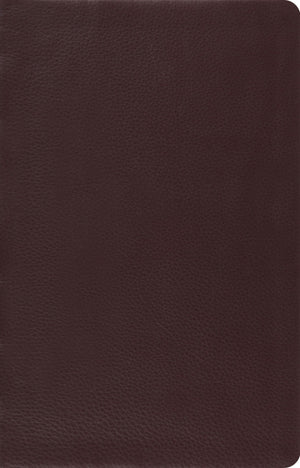 ESV Large Print Thinline Reference Bible (Top Grain Leather, Brown) by ESV (9781433532788) Reformers Bookshop