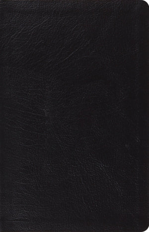 ESV Large Print Thinline Reference Bible (Genuine Leather, Black) by ESV (9781433532795) Reformers Bookshop