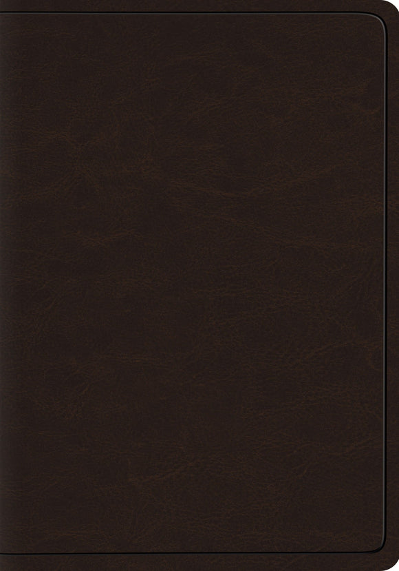 ESV Heirloom Wide Margin Reference Bible - Deep Brown Goat Skin