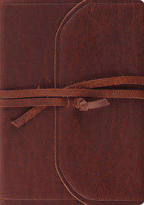 ESV Journaling Bible, Interleaved Edition (Natural Leather, Brown, Flap with Strap)