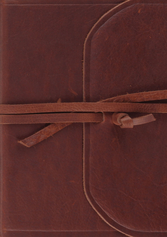 ESV Single Column Journaling Bible, Large Print (Natural Leather, Brown, Flap with Strap)