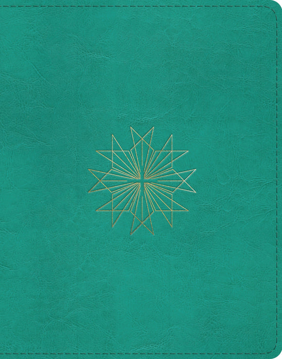 ESV Single Column Journaling Bible: Teal Resplendent Cross Design