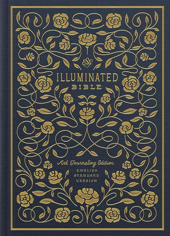 9781433558313-ESV Illuminated Bible, Art Journaling Edition Cloth Navy-Bible
