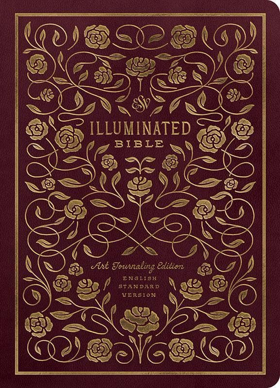 9781433558320-ESV Illuminated Bible, Art Journaling Edition Trutone Burgundy-Bible