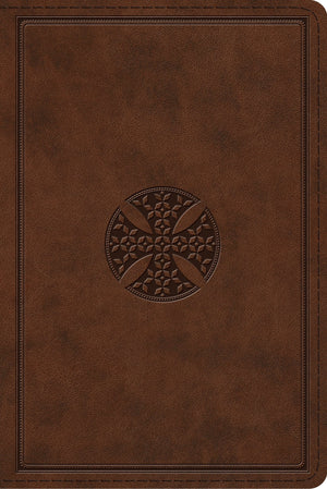 ESV Study Bible, Personal Size (TruTone, Brown, Mosaic Cross Design) by ESV (9781433560798) Reformers Bookshop