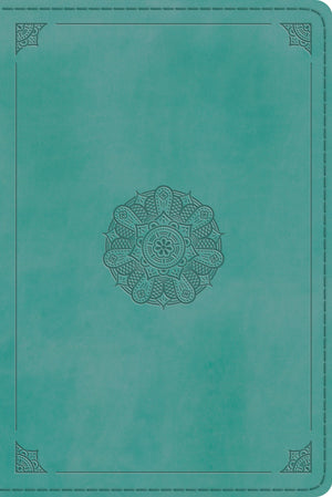 ESV Personal Reference Bible (TruTone, Turquoise, Emblem Design) by ESV (9781433563577) Reformers Bookshop