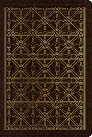 ESV Personal Reference Bible (TruTone, Brown, Cross Grid Design) by ESV (9781433563584) Reformers Bookshop